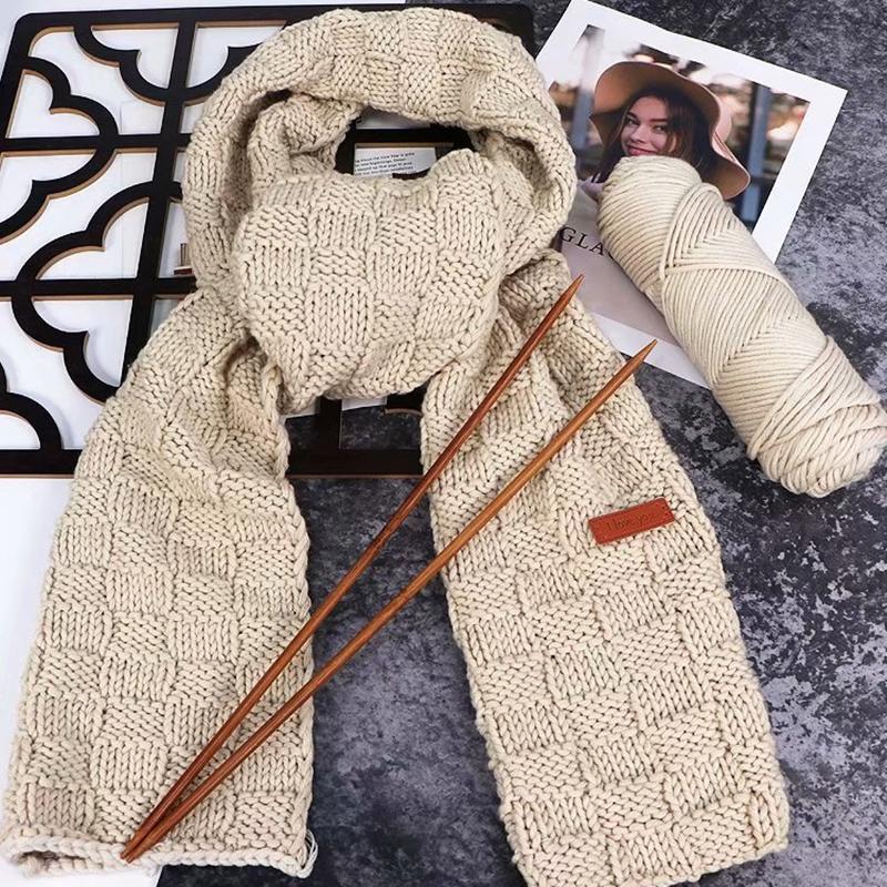 毛线团织围巾毛线手工diy编织送男友女情人牛奶棉粗毛线球材料包