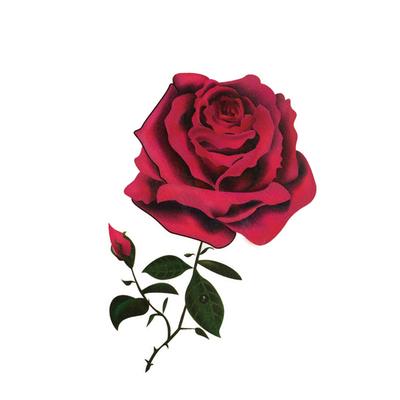 纹身贴防水 女 持久3D彩色玫瑰花朵蝴蝶小图案性感锁骨折疤痕贴纸
