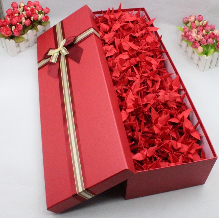 Color Classification 10 Cm Red Paper Cranes 200 Purple Gift Box 7 365 Square 520 Blue