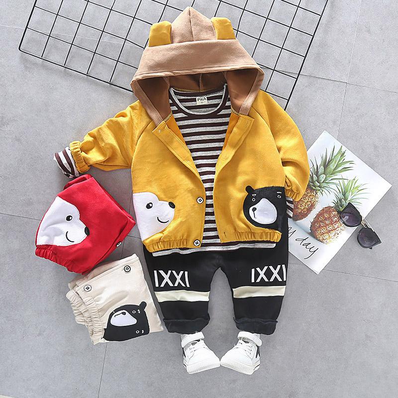帅宝宝潮童装男童套装洋气2019新款时尚小孩童春秋0一3周岁三件套