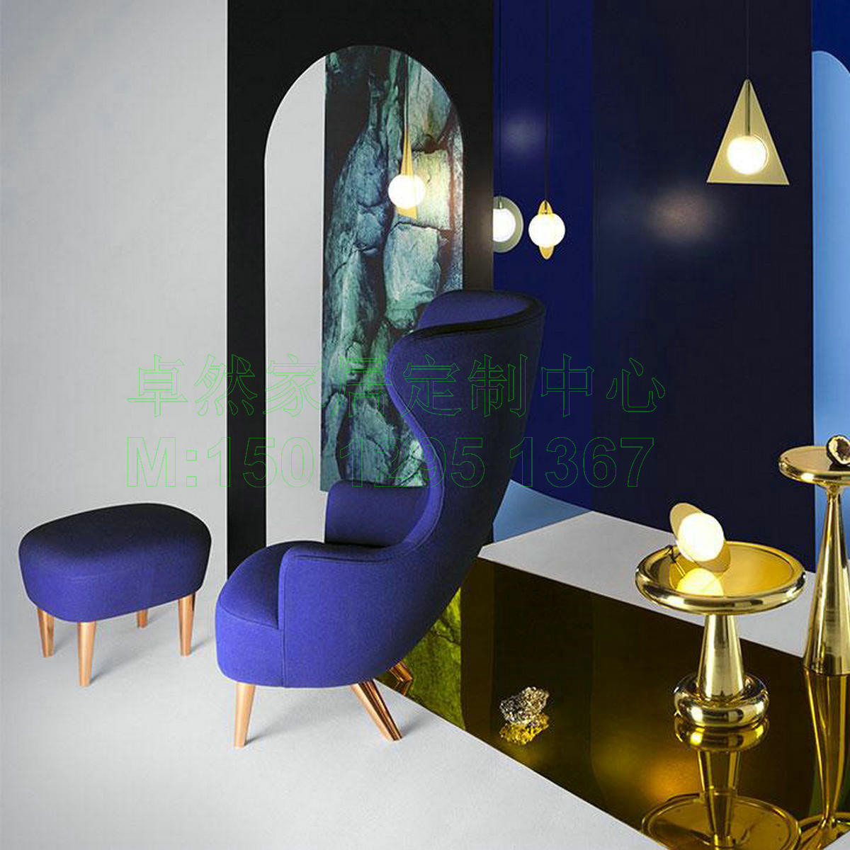 USD Tom Dixon Wingback Chair Nordic Solid Wood High Back - Tom dixon wingback chair
