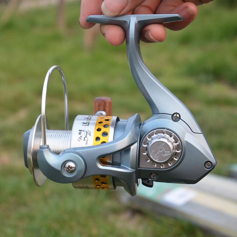 狼王渔具逍遥XY400010渔轮全金属线杯前卸力纺车轮鱼轮轴承海竿