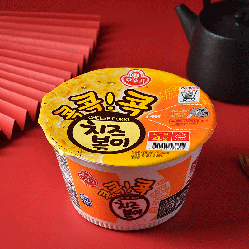 韩国进口不倒翁奶酪特浓芝士方便面泡面拌面宿舍速食面饼碗面*4碗