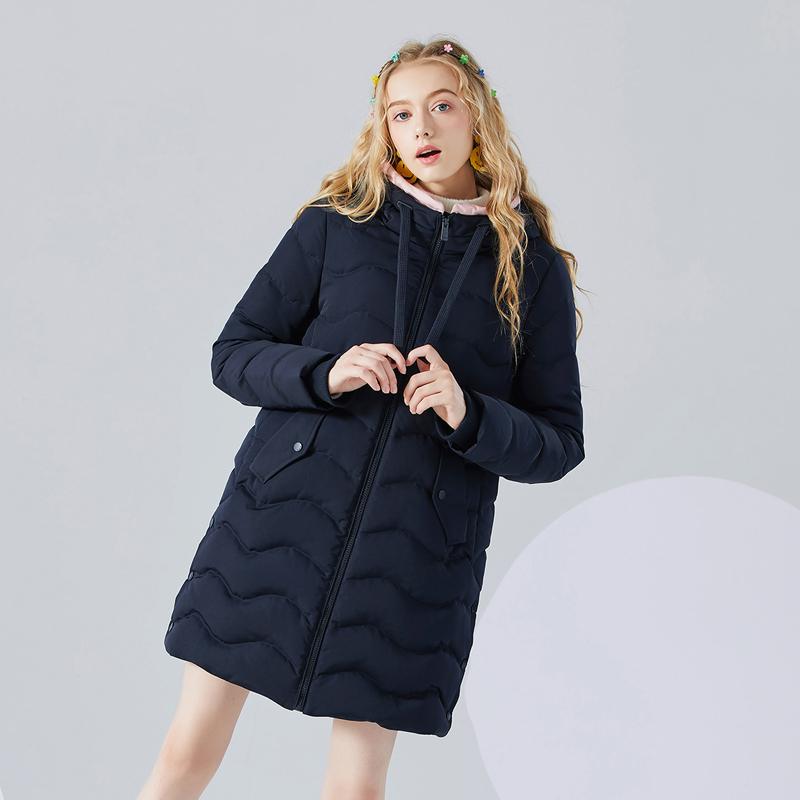 Puella拉夏贝尔旗下中长款流行鸭绒羽绒服女秋冬季新款韩版加厚
