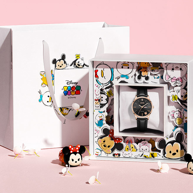 迪士尼情侣手表女夏2021年新款一对学生表男生送女友生日礼物礼盒