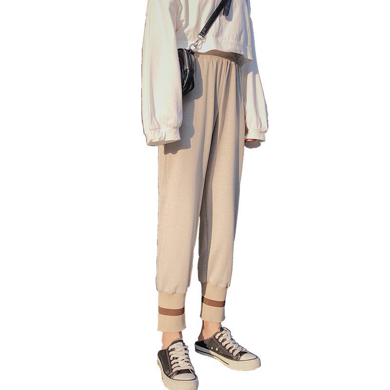 网红奶奶裤女春秋毛呢萝卜裤宽松加厚高腰直筒休闲哈伦阔腿灯笼裤_天猫超市优惠券