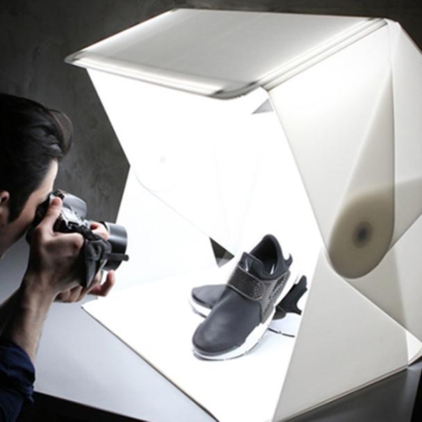 60 см Солнечный свет Lumibox со складыванием Маленькая профессиональная студия foldio обновление Фото софтбокс