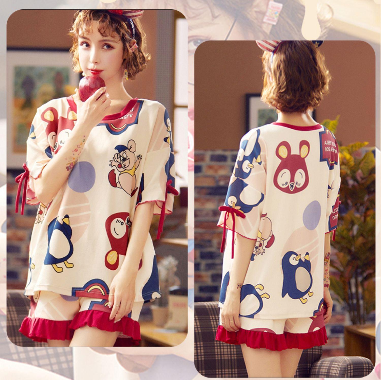 【雅模派对】夏季纯棉睡衣2件套