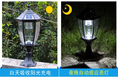 Solar retro wall lamp post modern minimalist wall lamp D waterproof ground lamp engineering lamps