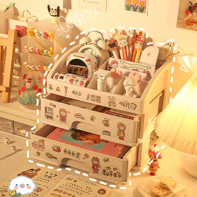 Desk desktop storage box office student ins drawer rack artifact cabinet cosmetics dormitory stationery