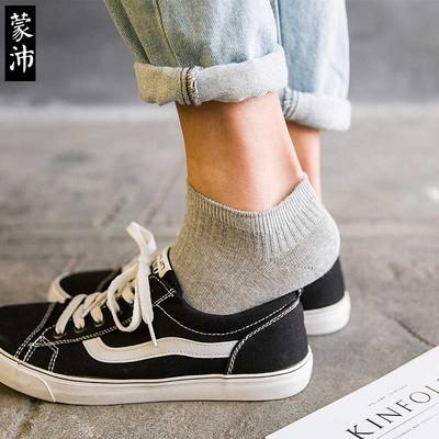 袜子男士船袜夏季低帮薄款纯棉短筒运动防臭吸汗休闲纯色棉短袜潮