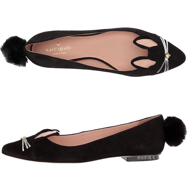 Kate Spade New York 可爱兔子鞋 浅口平底鞋 Edina美国代购
