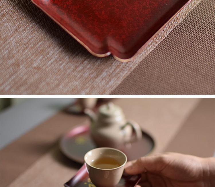 Ceramic story's brass cup pad insulation as antiskid cup Chinese zen kung fu tea accessories with zero