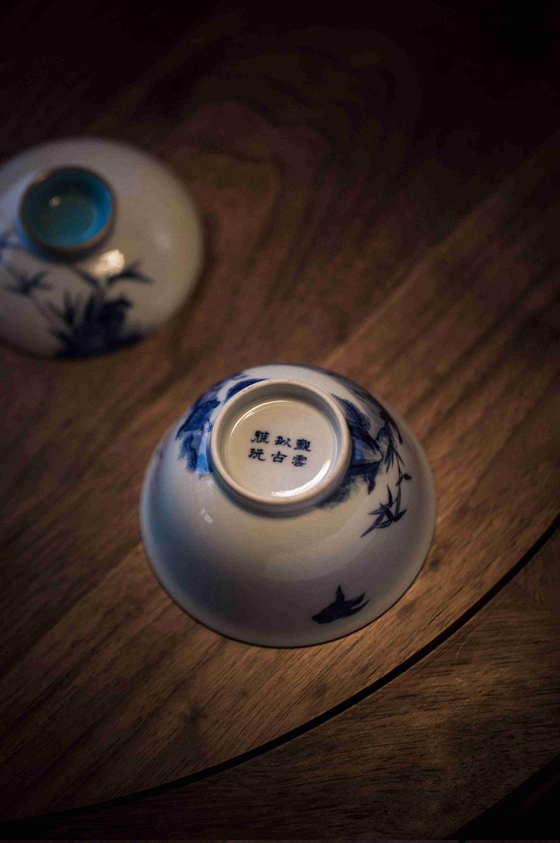 High - end checking hand - made ceramic story town tureen only three tureen turquoise bottom ix ankang tureen