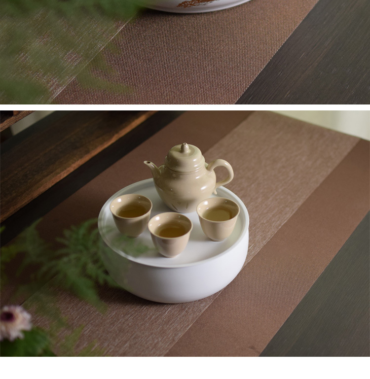 The Simple story of pottery and porcelain alloy tea tray was home Chinese cranes creative zen kung fu tea tea saucer