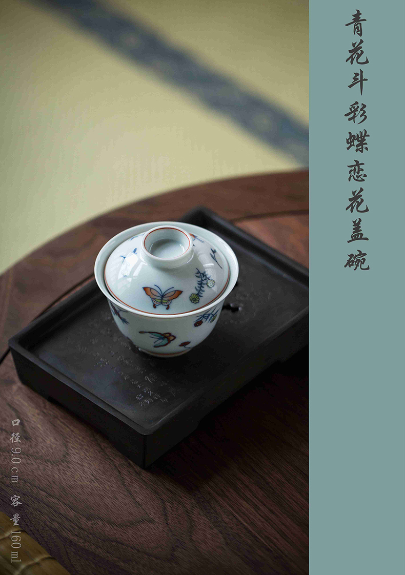 High - end checking hand - made ceramic story town tureen only three blue and white color bucket recent tureen tureen