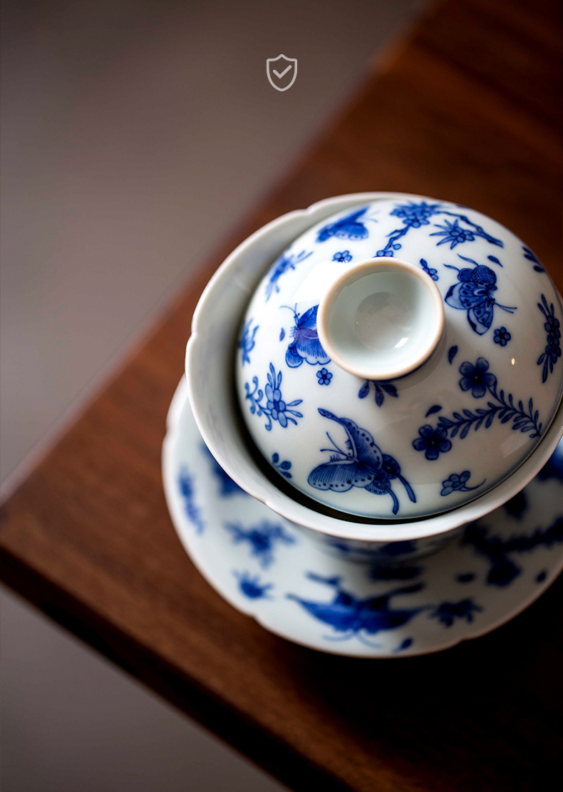 High - end checking hand - made ceramic story town tureen three tureen single recent kwai expressions using tureen
