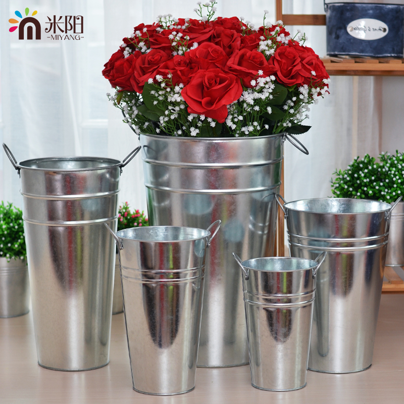 Usd 878 Mi Yanggalvanized Iron Bucket Flower Bucket Pastoral