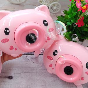 【网红爆款】儿童电动泡泡猪相机抖音同款