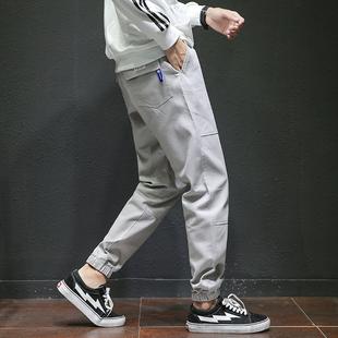哈伦裤男休闲运动裤宽松韩版工装束脚裤