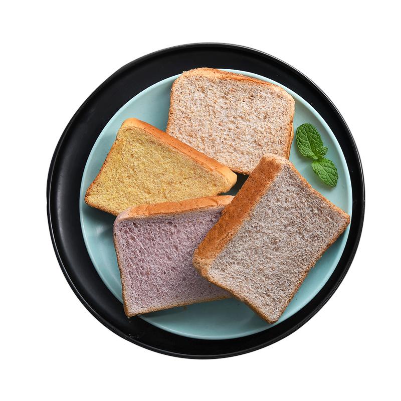 全麦黑麦低脂面包早餐整箱减轻卡无糖精粗杂粮代餐饱腹零食品吐司