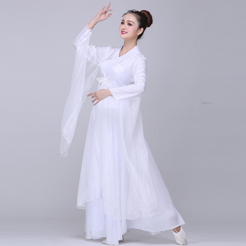 Attractive Classical Dance Costumes Female Elegant Chinese Style Fairy Fresh And  Elegant Cool Dance Costume Costume Hanfu Adult