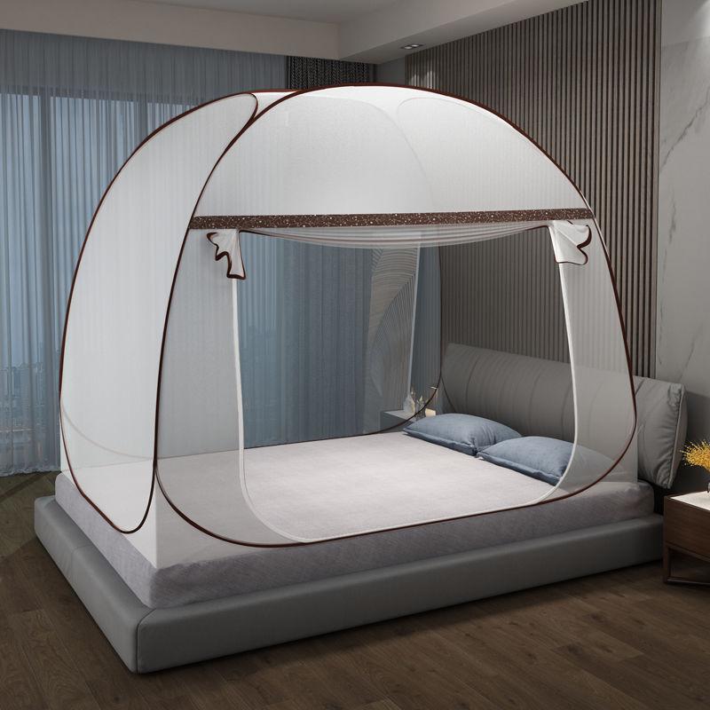 免安装蚊帐防蚊蒙古包家用儿童防摔有底蚊