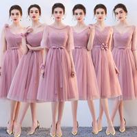 Платье невесты 2018 осень-зима новая коллекция бобы песочный Сестра юбка фасон средней длины стиль Невесты платье сестры группы выпускной юбки платье