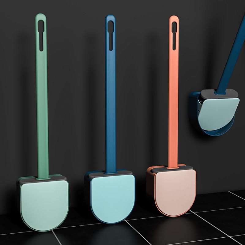 马桶刷无死角洗厕所硅胶刷子神器挂墙式卫生间家用清洁创意壁挂式
