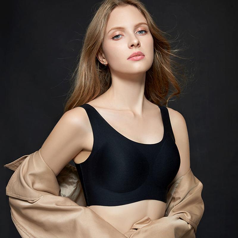 娜娜同款无痕内衣女小胸聚拢运动防下垂背心式文胸无钢圈薄款夏季