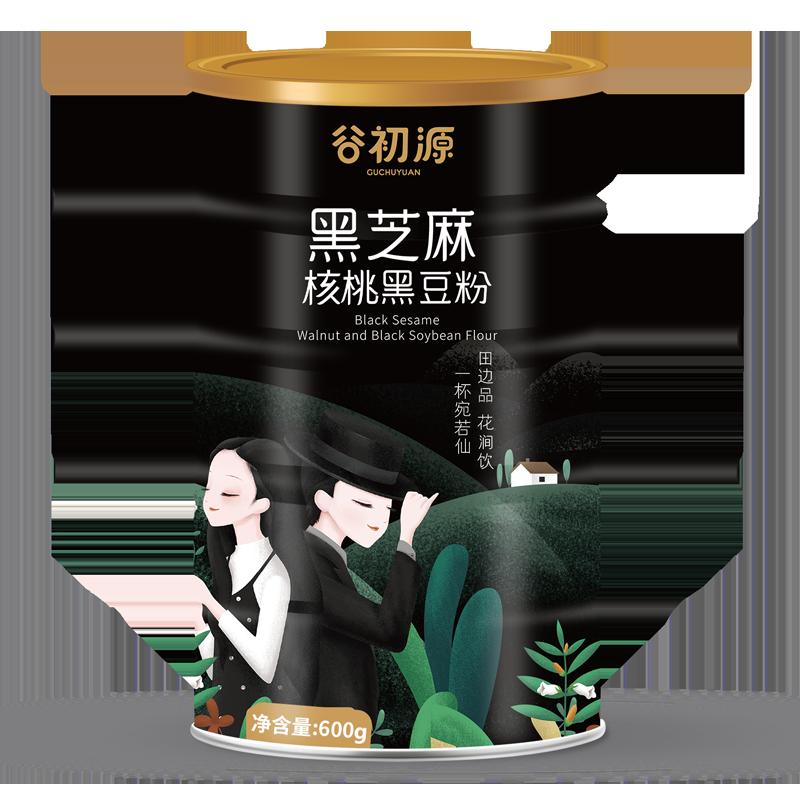 【买一送一】黑芝麻核桃黑豆粉600g价格/优惠_券后29.8元包邮