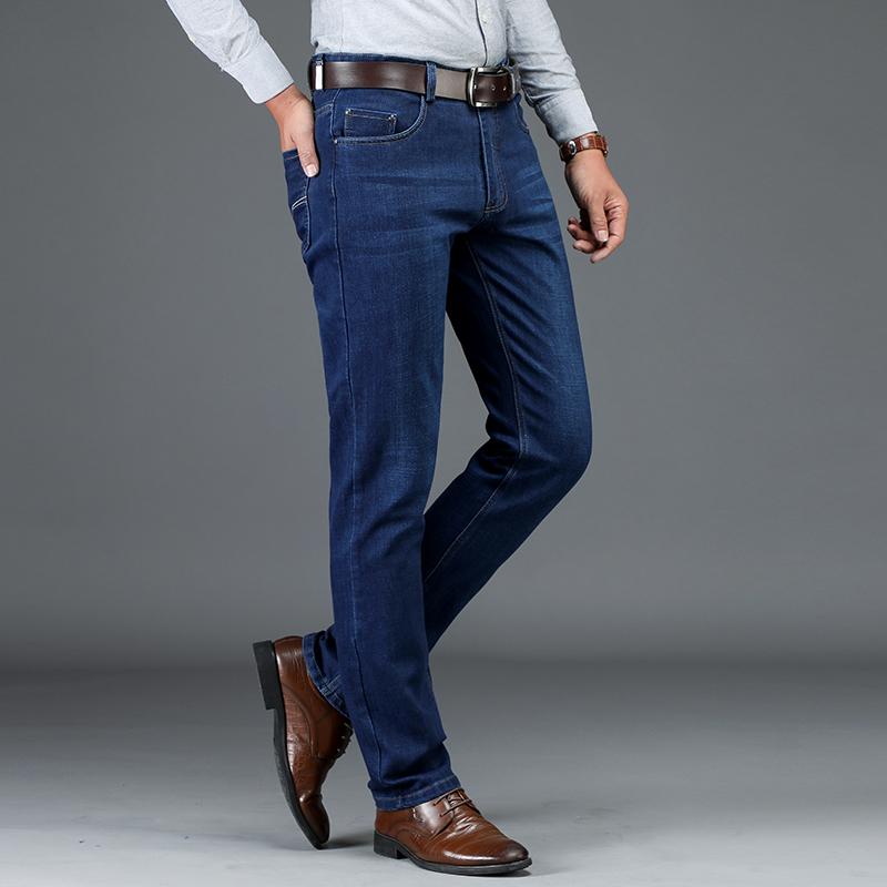 秋装新款青年牛仔裤男士时尚直筒休闲裤子