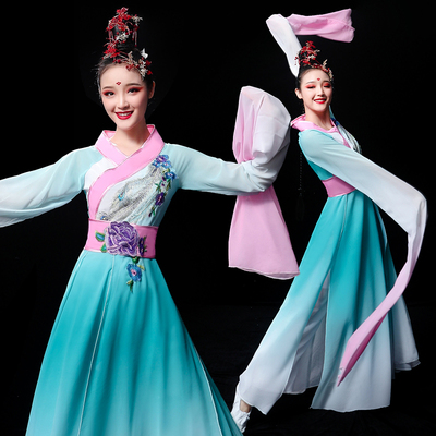Chinese Folk Dance Costume Classical Dance Costume water sleeve dance costume Chinese wind fairy ancient style dance Caiwei DANCE ADULT