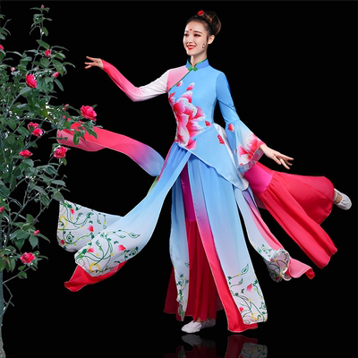 Chinese Folk Dance Costume Classical dance costume, water sleeve, modern dance suit, national dance costume, Yangge Costume