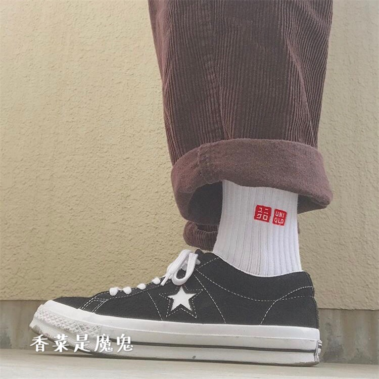 f2ce805fc3d2fd Spot Converse one star74 black 1970 Samsung standard flip fur low to help  skateboard canvas shoes 158369C