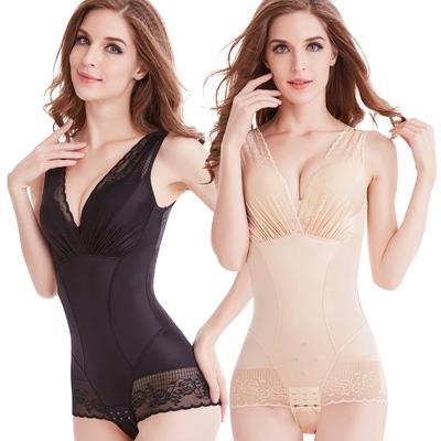 美人谣收腹束腰提臀产后瘦身燃脂塑形计连体塑身美体内衣服女正品