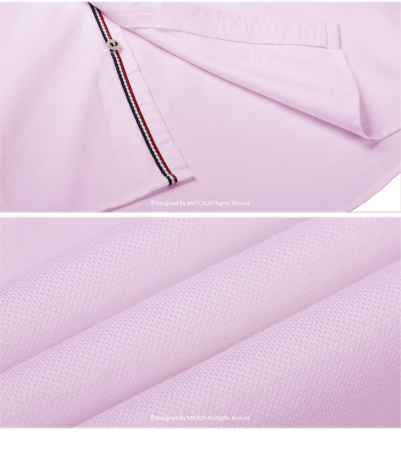 Match Maggie autumn solid color shirt plus fattening plus shirt large size Oxford spinning shirt men's mid-sleeve G1501 42 Online shopping Bangladesh