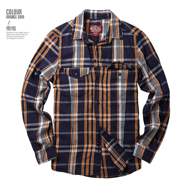 Maggie men's autumn big size fashion men's lad slim casual shirt men's long-sleeved shirt tide G2218 49 Online shopping Bangladesh