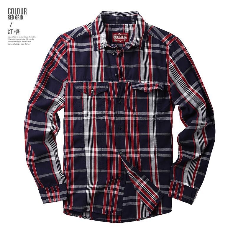 Maggie men's autumn big size fashion men's lad slim casual shirt men's long-sleeved shirt tide G2218 50 Online shopping Bangladesh