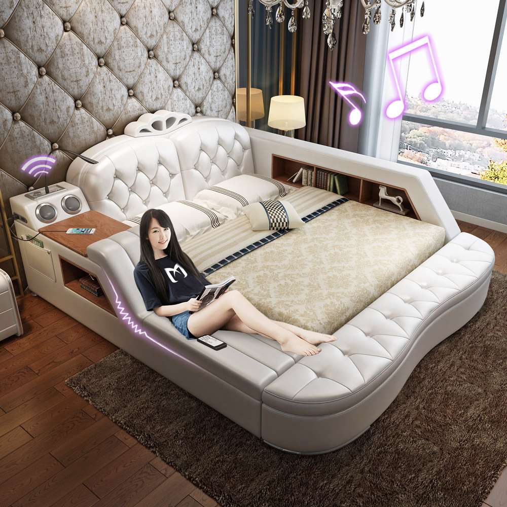 Usd massage bed leather leather leather bed for 1 bed