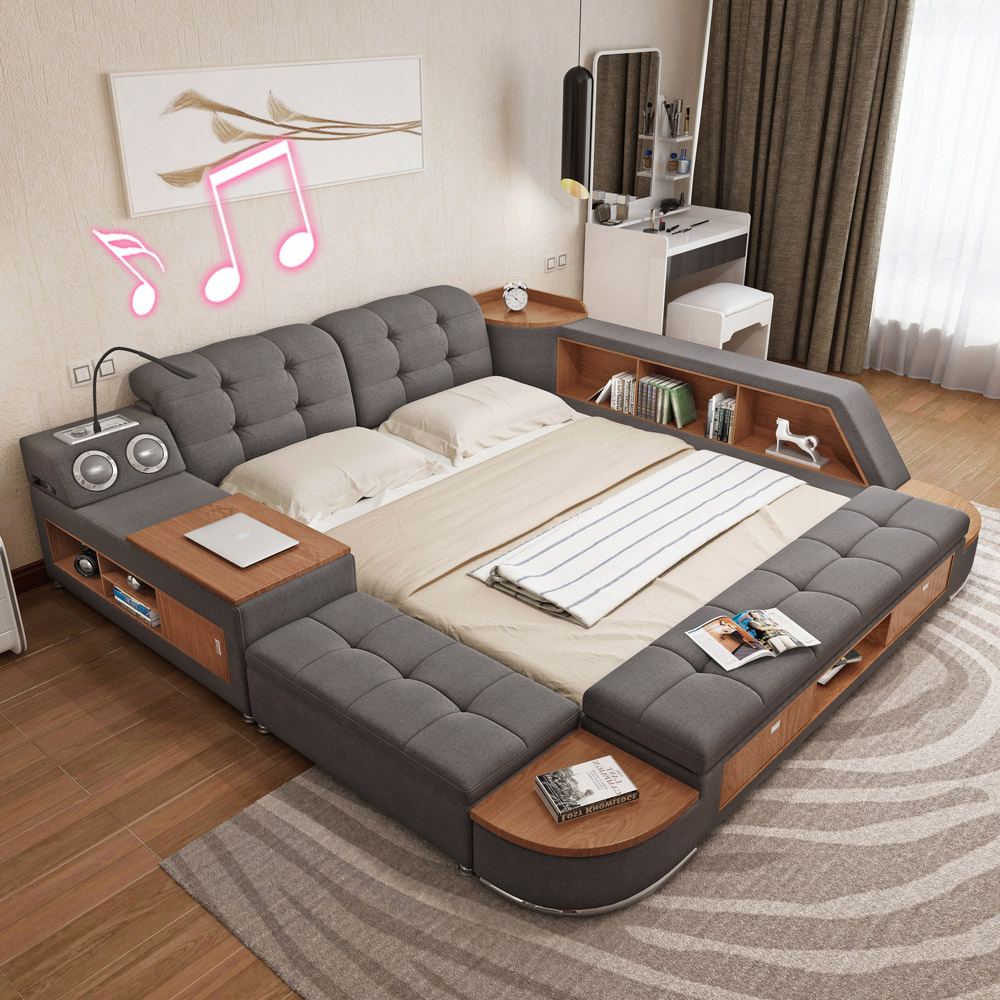 usd tatami bed zhuwo modern minimalist storage. Black Bedroom Furniture Sets. Home Design Ideas
