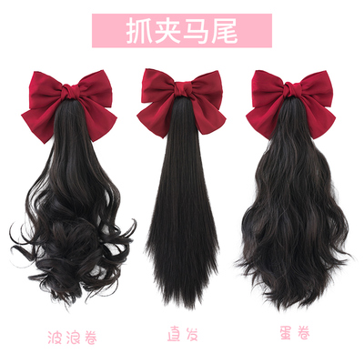 taobao agent Alicegarden wig female net red catch clip double ponytail big bow Lolita accessories antique ponytail