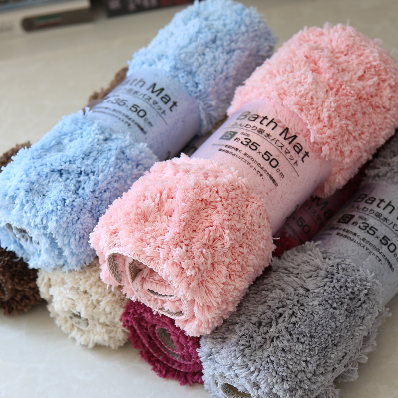 Xuất khẩu sang Nhật Bản chân tóc dài mat cửa mat mat nhà dày thấm nhà vệ sinh chống trượt chân thảm mat - Thảm sàn