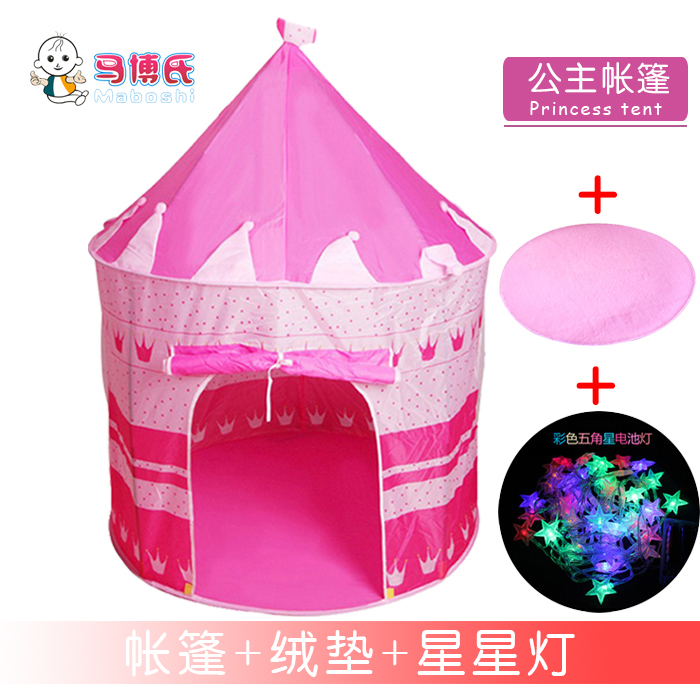 Princess Tent + Velvet Pad + Star Lights