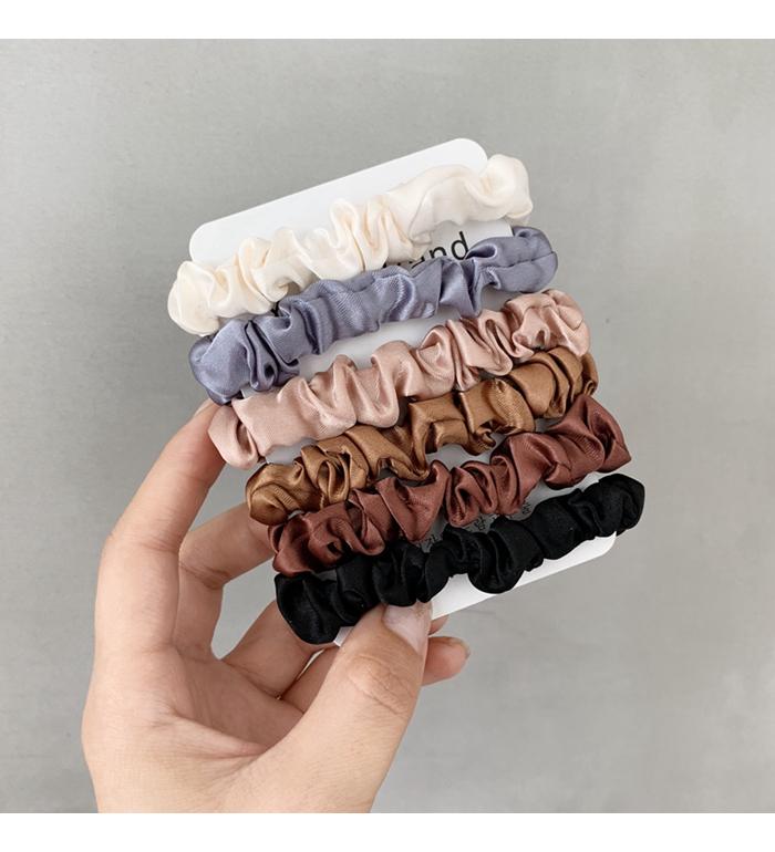 Anillo de pelo satinado de color sólido de moda NHOF154773
