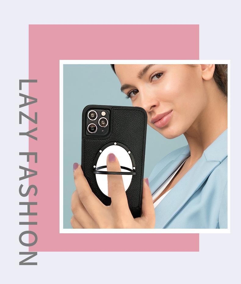 中國代購 中國批發-ibuy99 薇娅同款斜跨挂绳手机壳插卡适用苹果iphone12鱼尾款TPU手机皮套