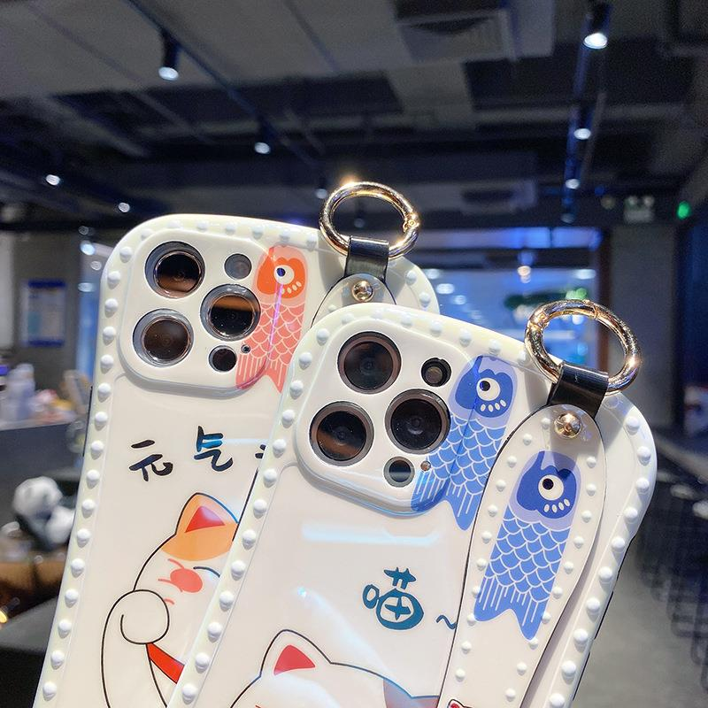中國代購|中國批發-ibuy99|xsmax手机壳iphone8p11小蛮腰腕带适用苹果12proxr可爱防摔套