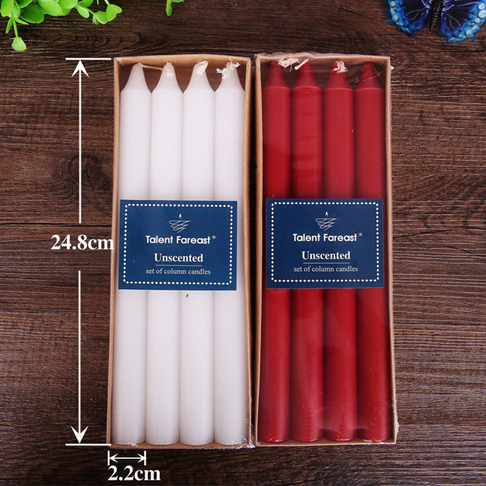 Red and white candles smoke-free household lighting candles daily ordinary  candles long romantic wedding emergency candles wholesale