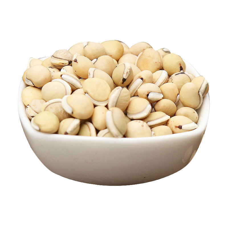 Mountain men by the side of the edge of the Chinese herbal medicine white  beans Sichuan lentil lentils have lentil powder can also do grains 250 grams