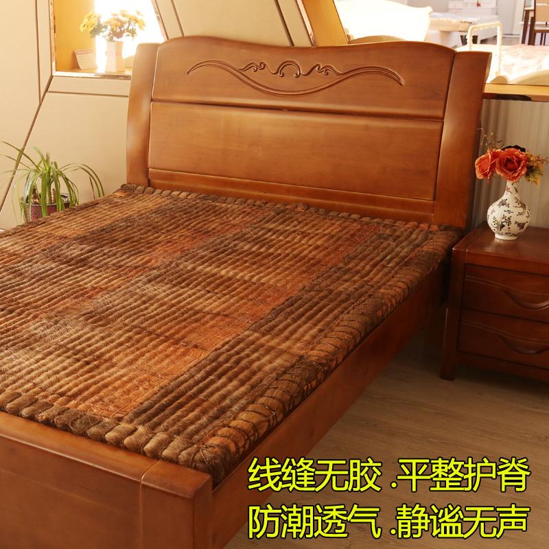 Brown - lề nâu của toàn bộ nệm dệt mat thể được tùy chỉnh mà không cần keo tự nhiên Palm tay nâu nệm nệm 1,8 1,5 - Nệm